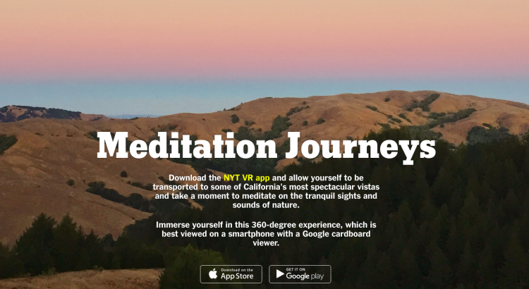 Meditation Journeys ad screenshot