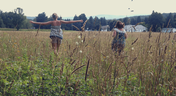 Running through weeds & wheat