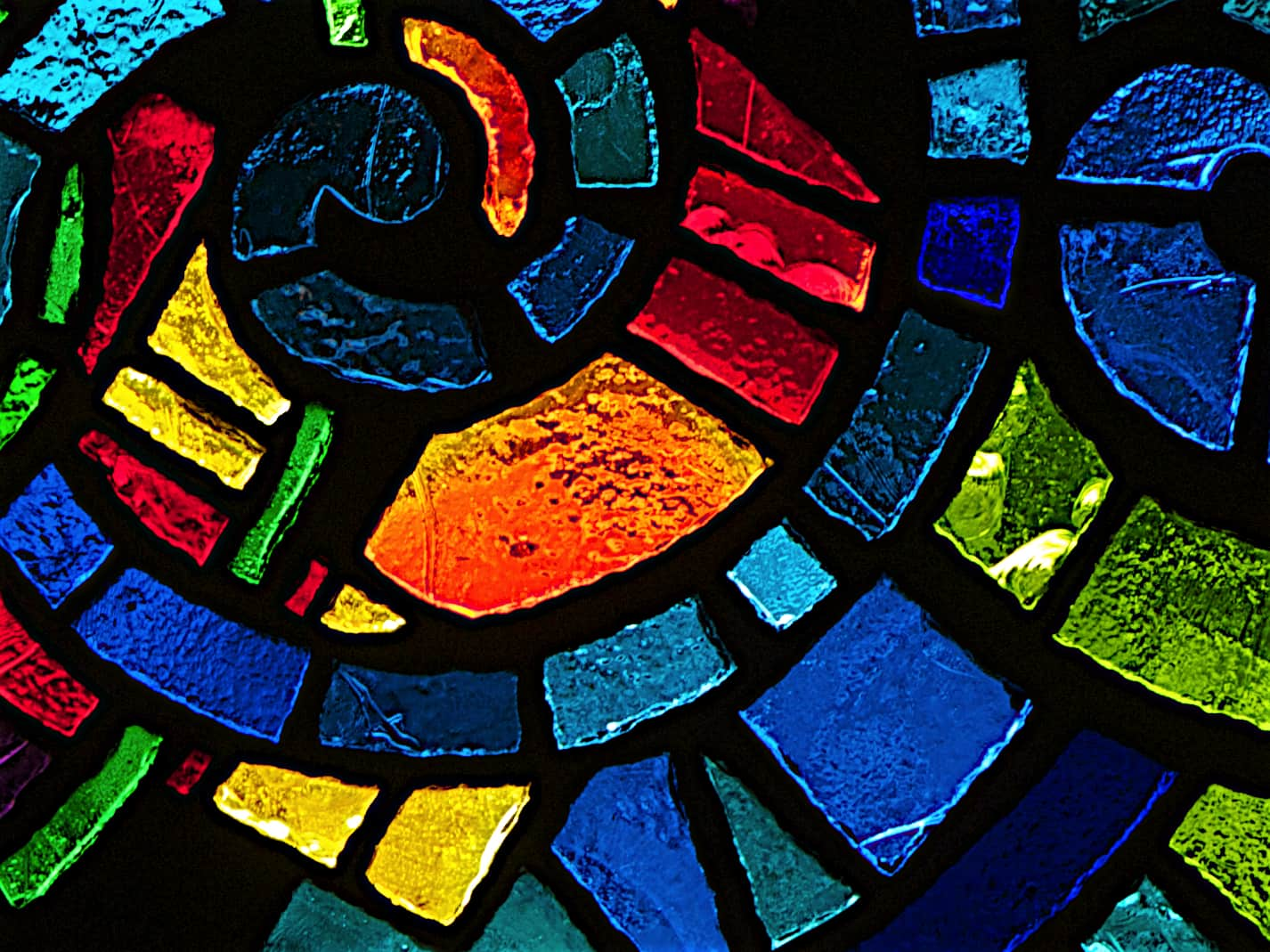 Detail image by (bright stained glass) by Richard Due