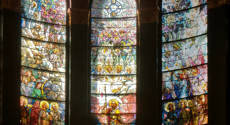 Glory and mercy in Victory in Heaven window photo
