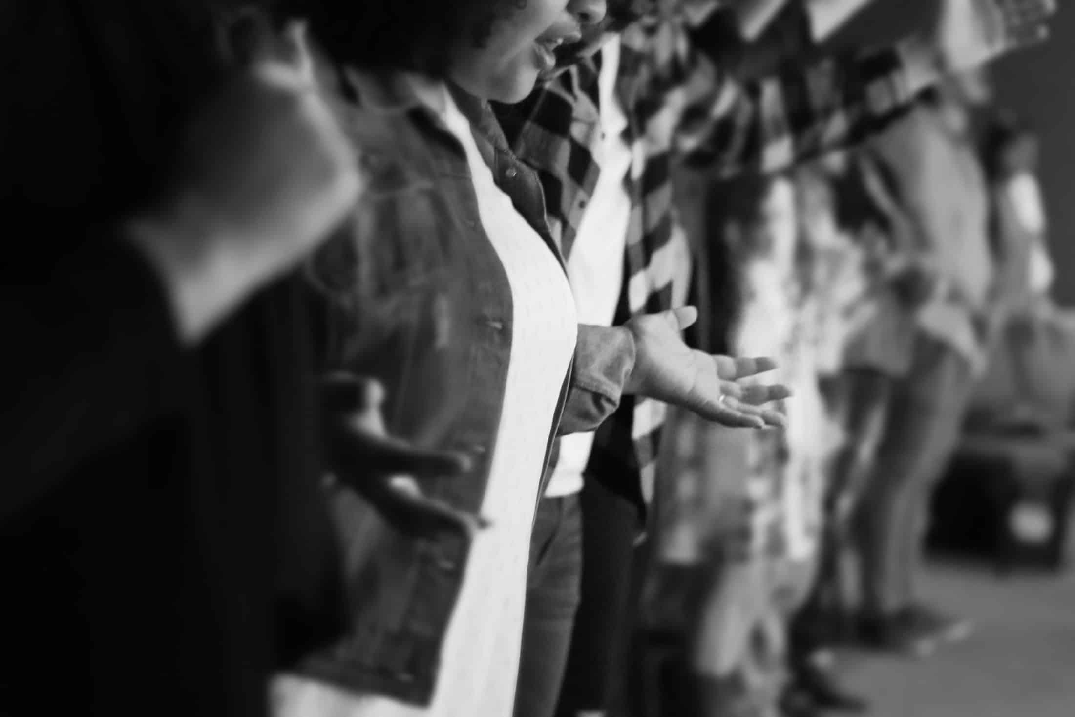People praying photo - eucharistic prayer